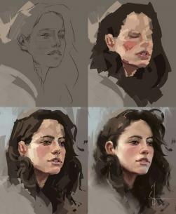 Portrete in culori acrilice